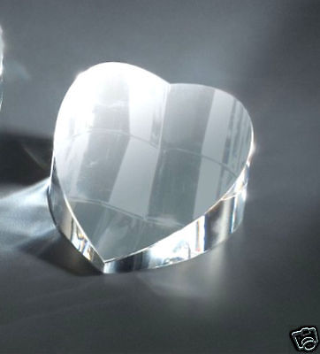 Personalized Crystal Heart Paperweight / Office GIFT/ Custom gifts for Her