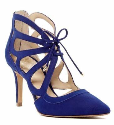 Blue High Heel Pump - Vince Camuto Ballana Coastal Blue Pumps Leather High Heel Shoes Size 9.5 M