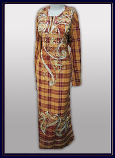Damen Kaftan für den Sommer orange-terrakotta Brustweite 69 cm Islam Gewand A166