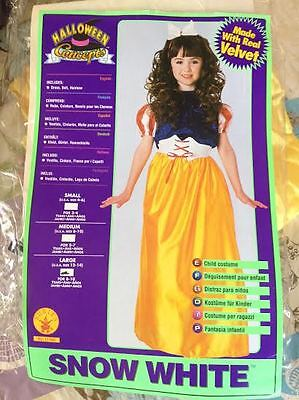 Snow White Theatrical Quality Velvet Halloween Costume Rubies No 11186 Brand New (Theatrical Quality Halloween Costumes)