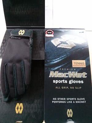 Tennis Handschuhe Premium Erwachsene Macwet Schwarz Paar + Gratis Hilfe & Set