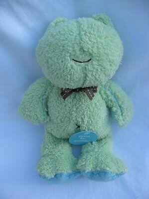 Carters Light Green Blue Ribbit Croaking Soft Plush Frog Baby Lovey Cute