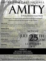 CASTING CALL --- 'Amity' Short Film Auditions