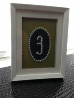 framed table numbers 1-15