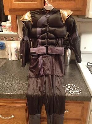 Black Ninja Shadow Ninjas Night Fury Halloween Costume Boys Small New + Stars (Furies Halloween Costume)