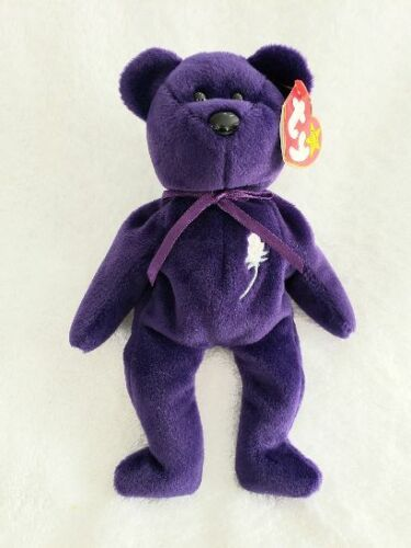 """Ty Beanie Baby """"PRINCESS """" Diana Bear 1997 Rare, Retired, """"MINT, with MINT TAGS"""