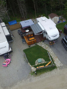 Roulotte Fifthweel Cruiser Situé au Camping Atlantide,St-Calixte