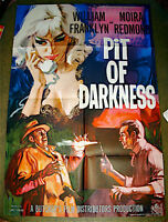 RARE UK BRITISH 1961 PIT OF DARKNESS CRIME MOVIE THEATRE POSTER