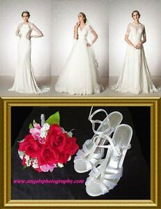 WEDDING DRESS or SHOES $10 with WEDDING Photography+D.J+ Booking