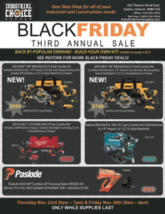 BLACK FRIDAY SALE @ INDUSTRIAL CHOICE SUPPLY