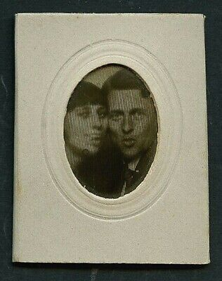 Anime Couples Black And White (French 1920s Lenticular COUPLE Make FACES Animated WIGGLE Photo ~ PARIS)