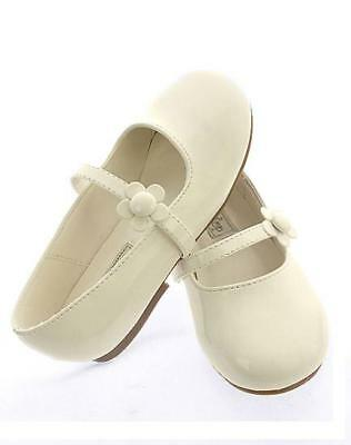 Ivory Dress Shoes For Toddlers (Toddlers Kids BABY Flower GIRLS DRESS SHOES Pageant Birthday Party Wedding)