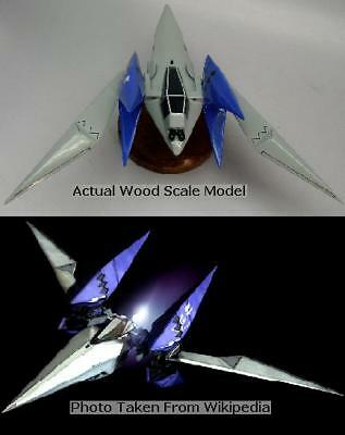 Star Fox Lylat Wars Arwing Aircraft Desktop Wood Model Large