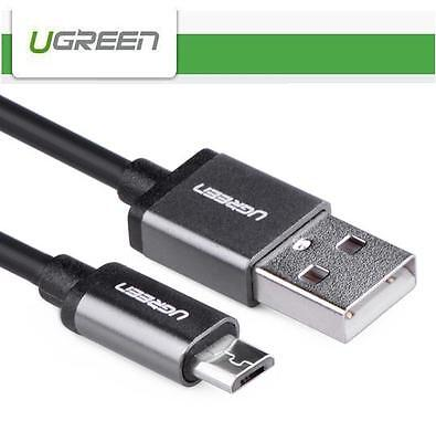 UG Aluminium Case Micro USB 2.0 Fast Charging Data Sync Cable (0.5M - 3M) Black Black Micro Case