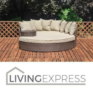 New Living Express Outdoor Daybed Le201602201 161509665 Beach Haven Taiji Wicker Patio Bed With Ottoman Sofa