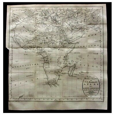 1803 Reichard - MAP OF AFRICA AND ARABIA - DE