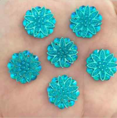 DIY 10pcs 18mm resin flowers flatback Scrapbooking for phone/wedding,Crafts UX09
