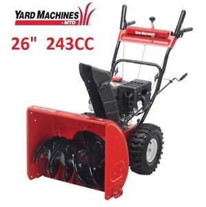 "NEW YARD MACHINES SNOWBLOWER 26"" 31AS66EF500 224605834 SNOW THROWER 243CC SEE COMMENTS"