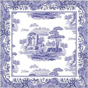 SPODE-BLUE-ITALIAN-COTTON-NAPKINS-x4-BY-PIMPERNEL-NEW