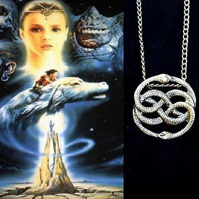 Neverending story aurynebay 1 auryn necklace neverending story never ending circle snakes cosplay us seller 22 mozeypictures Choice Image