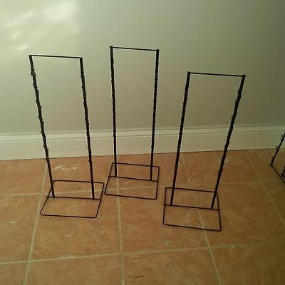 3 - Black Double Round Strip Potato Chip Candy Clip Counter Display Rack