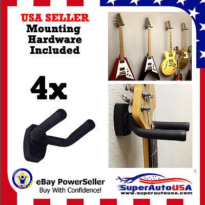 4-PACK Guitar Hanger Hook Holder Wall Mount Display Instrument Anchor Stand Rack