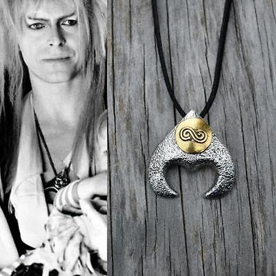 Labyrinth Costume Necklace Goblin King David Bowie Movie Jareth 20 Black Leather