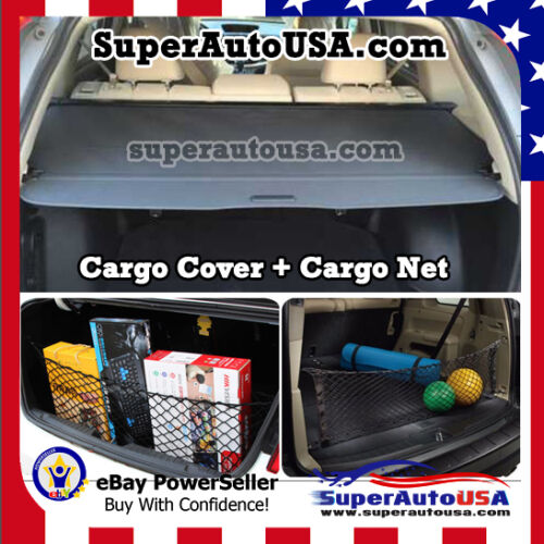 Fit 12-2016 HONDA CRV REAR TRUNK GRAY OE STYLE RETRACTABLE CARGO COVER AND NET