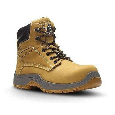 V12 Puma Lightweight Safety Work Boots Tan Honey Men's Shoes IGS UK 9