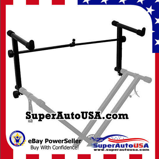 Universal Stand 2 Tier Keyboard Stand Electronic Piano Adjustable Adapter
