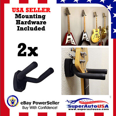 2-PACK Guitar Hanger Hook Holder Wall Mount Display Acoustic Electric US Stock ()
