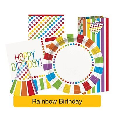 Regenbogen-geburtstags-party (Regenbogen Geburtstags Party Auswahl - Geschirr Luftballons Banner &)