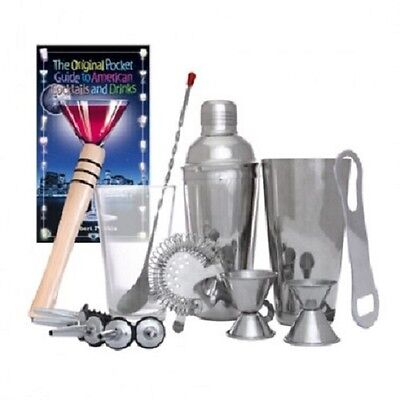Home Bar Deluxe Bartender Tool Kit for Patio Bar Entertainment Drinks Mixology