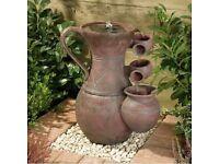 pitcher Cascade Solar Water Feature