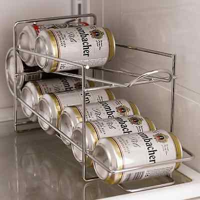 Soda, Beer, Coke, Can Dispenser Refrigerator Beverage Rack Storage Holder