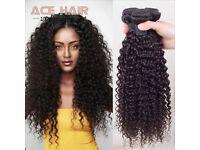 Brazilian Kinky Curly Virgin Human Hair extensions 3pcs (12 inch each)
