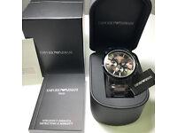 Brand New Armani watch: AR2454 Black, Certificate, Original Box, Manual Book, Tag