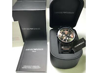 Brand New Armani watch: AR2454 Black, Certificate, Original Box, Manual Book, Tag