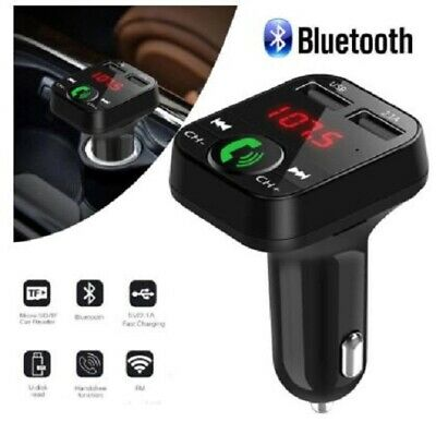 - New Bluetooth Car Kit Wireless FM Transmitter Dual USB Charger Audio MP3 Player.