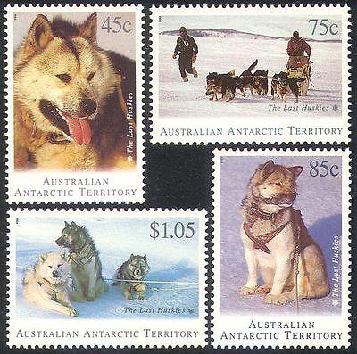 AAT 1994 HUSKIES/DOGS/DOG SLEDGE/TRANSPORT/ANTARCTIC/EXPLORATION 4V SET B9735