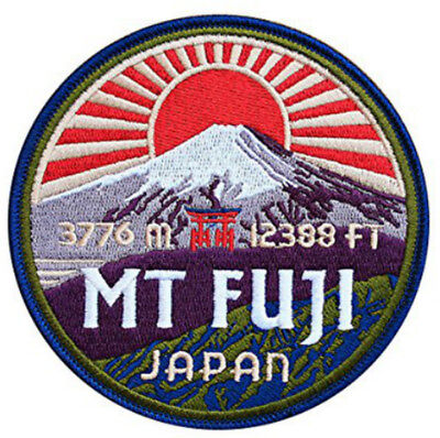 Mount Mt. Fuji Japan Patch (90 MM) Iron / Sew on Badge Mountain Asia Souvenir -