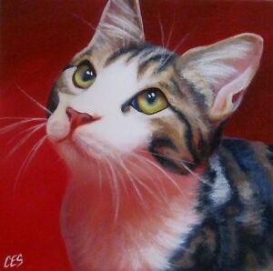 Original Animal and Pet Portrait PAINTINGS by CES