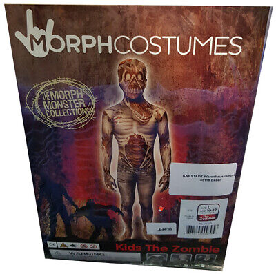 Halloween Kostüm MorphCostumes Zombie Monster Kids Kinder L (Age 10-12 )