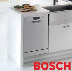 """NEW* BOSCH SS DISHWASHER 18"""" SPE5ES55UC 151191433 RECESSED HANDLE FULL CONSOLE STAINLESS STEEL TUB"""
