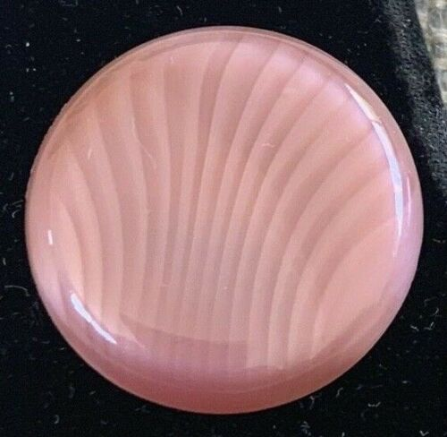 Vintage Pink Glass Design In Glass (DIG) Button