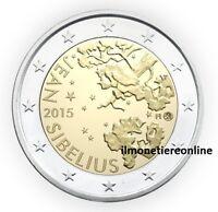 2 Euro Fdc 150° Jean Sibelius Finlandia 2015 Commemorativi Finland Unc Suomi -  - ebay.it