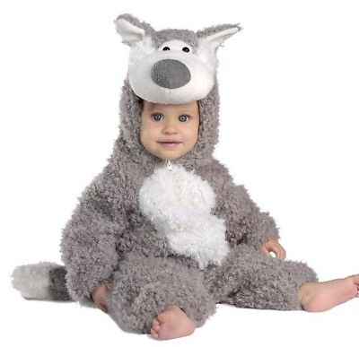 Princess Paradise Big Bad Wolf Gray Plush Deluxe Costume Baby Infant 12-18 Month (Wolf Costume Baby)