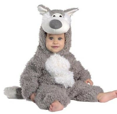 Princess Paradise Big Bad Wolf Gray Plush Deluxe Costume Baby Infant 6-12 Months](Wolf Costume Baby)