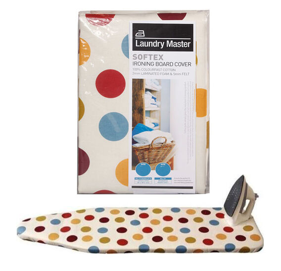Laundry Master Softex Padded Ironing Board Cover Medium Boards Up To 127x42cm