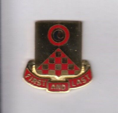 US Army 100th Support Battalion Supply Quartermaster QM crest DUI badge G-23